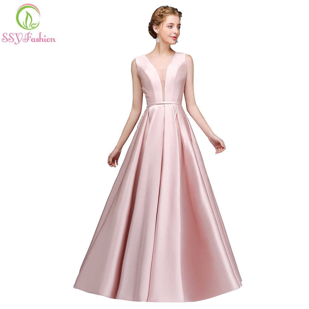 5479ea1da5 Detail Feedback Questions about SSYFashion Simple Pink Satin Evening ...