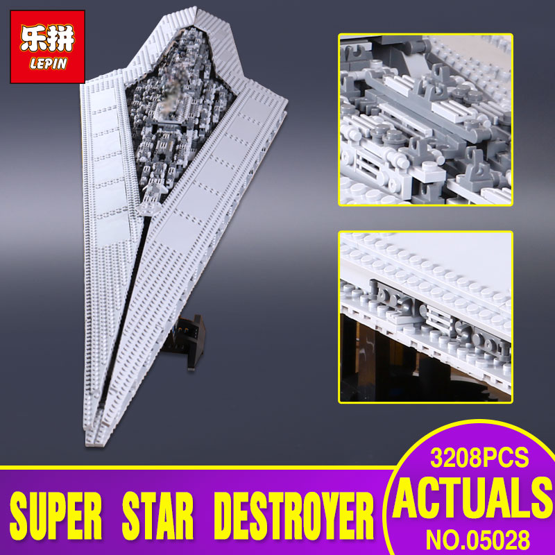 New Lepin 05028 Star Wars Execytor Super Star Destroyer Model Building Kit  Block Brick Children Toy Gift Compatible With 10221 lepin 05028 3208pcs star wars building blocks imperial star destroyer model action bricks toys compatible legoed 75055