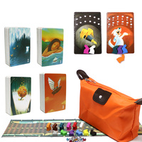 2019 obscure dixit 1 2 3 4 cards game total 336 playing cards wooden bunny zipper bag original back for family party board game
