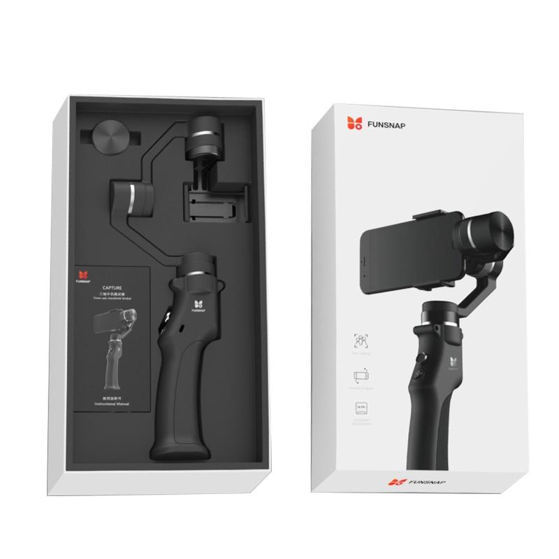 Funsnap Capture 3 Axis Handheld Gimbal Stabilizer For Smartphone GoPro 6 SJcam XiaoYi 4k Camera Not DJI OSMO 2 ZHIYUN FEIYUTECH 5
