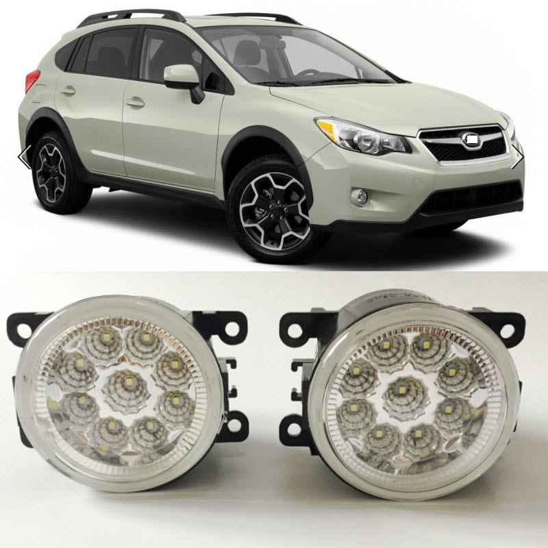 Car-Styling For Subaru XV Crosstrek 2013 2014 2015 SMD 9-Pieces Leds Chips LED Fog Light Lamp H11 H8 12V 55W Halogen Fog Lights car rear trunk security shield cargo cover for subaru xv crosstrek 2012 2013 2014 2015 2016 2017 high qualit auto accessories