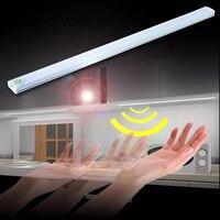 USB ультра тонкая затемняемая 21 Светодиодная подсветка под шкаф сенсорный датчик полоса света для шкафа шкаф кухонный ночник