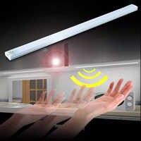 USB Ultra Thin Dimmable 21 LED Under Cabinet Light Touch Sensor Bar strip Light for Wardrobe Cupboard Closet Kitchen Night Light