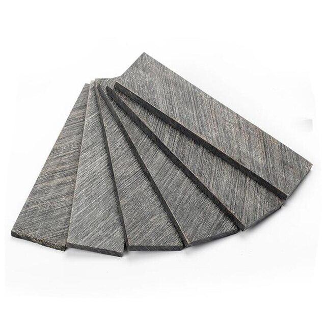 Manche de couteau plaque de coupe en corne, en corne de buffle noire matériel pour graver la tablette en corne de 120*30*5mm