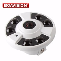 Fisheye 5MP Lens 1 3 4MP Network View 180 360 Degrees Panoramic IP Camera With POE