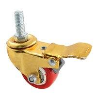 Threaded Stem Light Duty Rotating 1 5 Dia Brake Caster Wheel