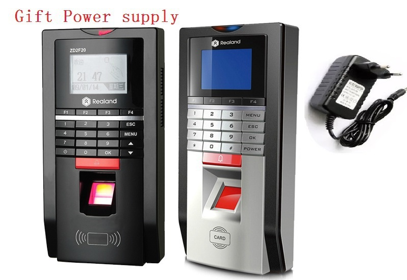ZD2F20 Biometric Fingerprint Attendance Time Clock And Access Control With TCP IP power supply