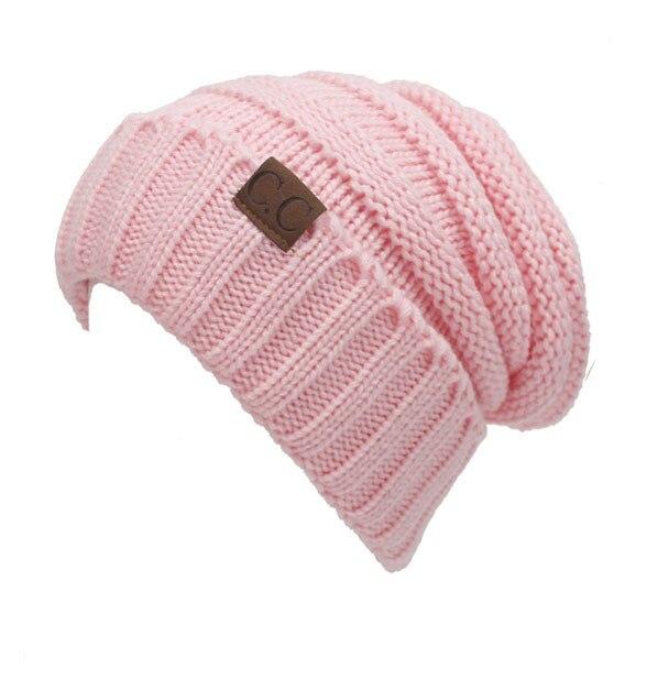 12 Colors Unisex Knit Gorro C.C Hat Women Men Chucky Stretch Cable Slouch CC Beanie Bonnet Winter Hats For Women