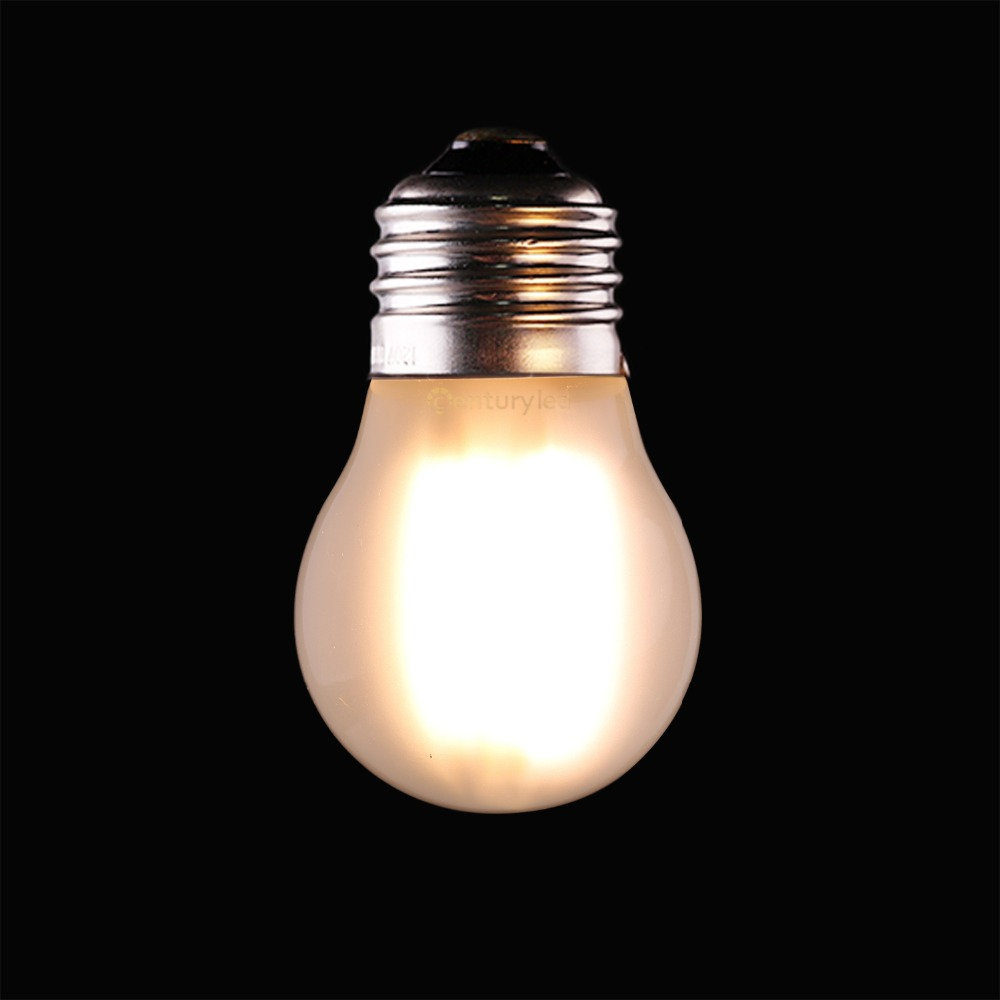 4W 400LM LED Filament Golfball Light Bulb Dimmable 2700K Warm White E26 E27 LED Lamp G45 Globe Frosted Glass Bulb 40W Equivalent