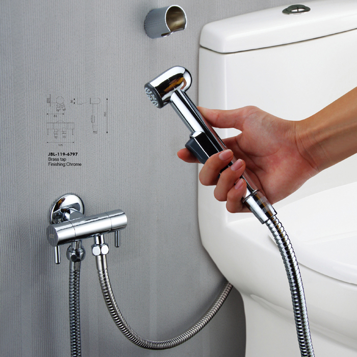 Bathroom Abs Plastic Bidet Handheld Small Shower Syringe