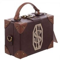 Fantastic Beasts and Where to Find Them Harri Potter Bag Hogwarts PU School Badge Small suitcase Shoulder bag Handbags Hallowe