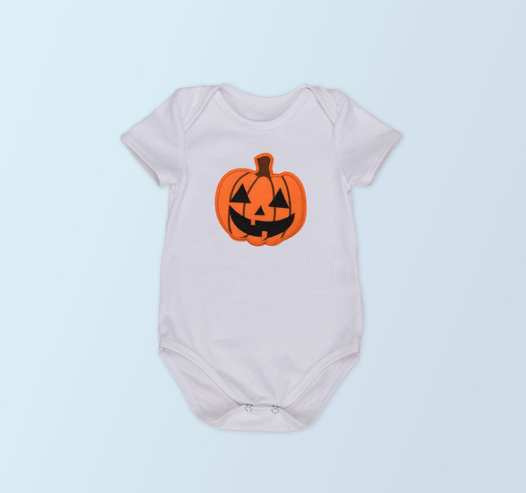 Toddler Baby Girls Cotton Bodysuits & One-Pieces Fashion Halloween Party Pumpkin Newborn Jumpsuits Holiday Clothes