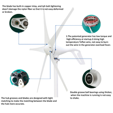 S2 Wind Power Generator Turbine Windmill with 600W Waterproof Charge Controller 12V 24V