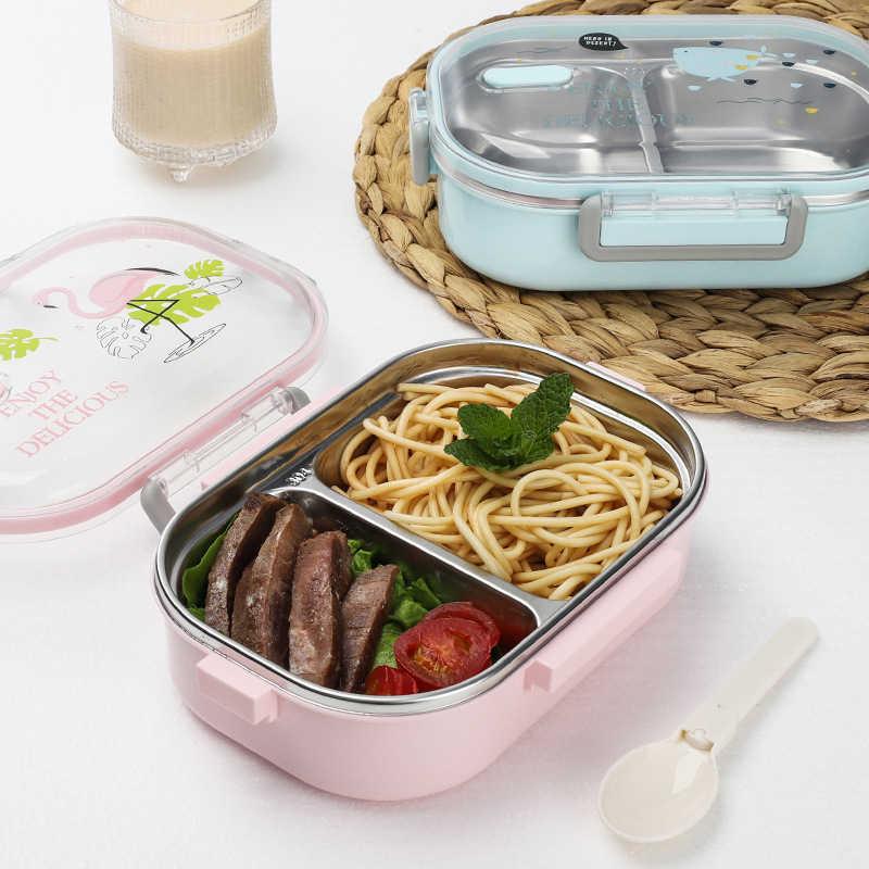 Meyjig Portátil Talheres 304 Aço Inoxidável Caixa de Almoço Japonês Com Compartimentos Crianças Bento Caixa Recipiente de Alimento de Microondas