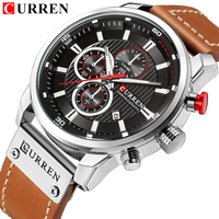 DHL Free Shipping 50pcs/lot CURREN Mens Watches Fashion Casual Waterproof Chronograph Quartz Watch Men Sport Military Clock
