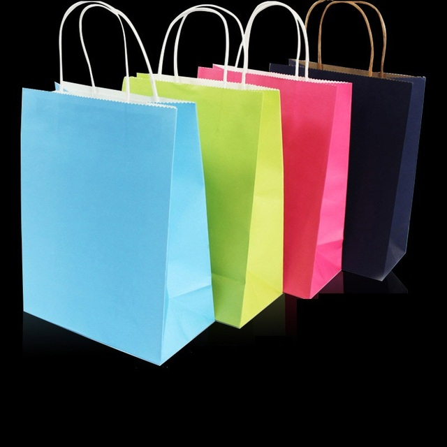 CMYK logo customized shopping paper bags printing services custom ...