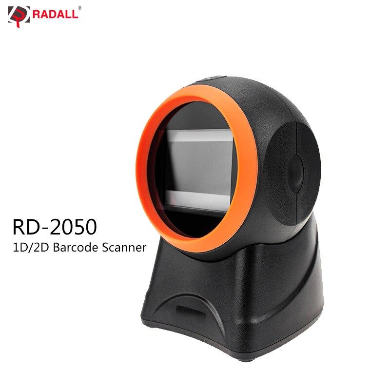 RADALL 1D 2D Omnidirectional Barcode Scanner Platform Barcode Scanner High Quality 20 Lines Desktop POS flatbed