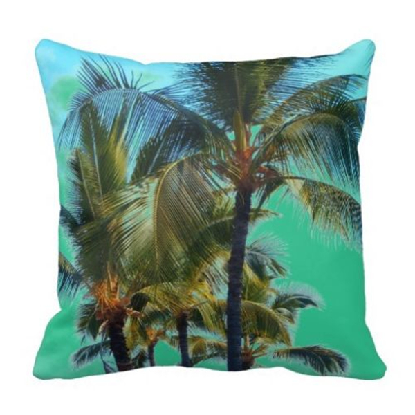 Tropical Palm Tree Cushion Cover Sea Beach Decorative Throw Pillow Case Green Couch Decor Nature Gifts Two Sides In From Home