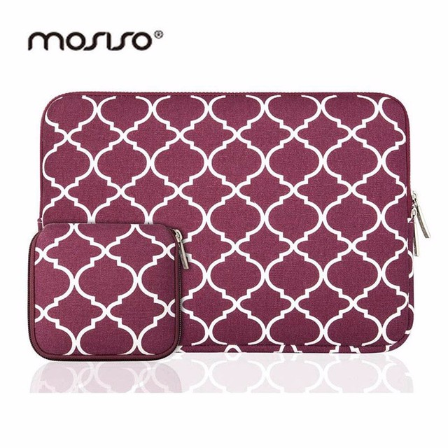 MOSISO Hot Selling 11 13 14 15inch Laptop Sleeve Case For Macbook Air Pro 11.6 13.3 15.6 Notebook Bags Canvas Fabric Cover Bag
