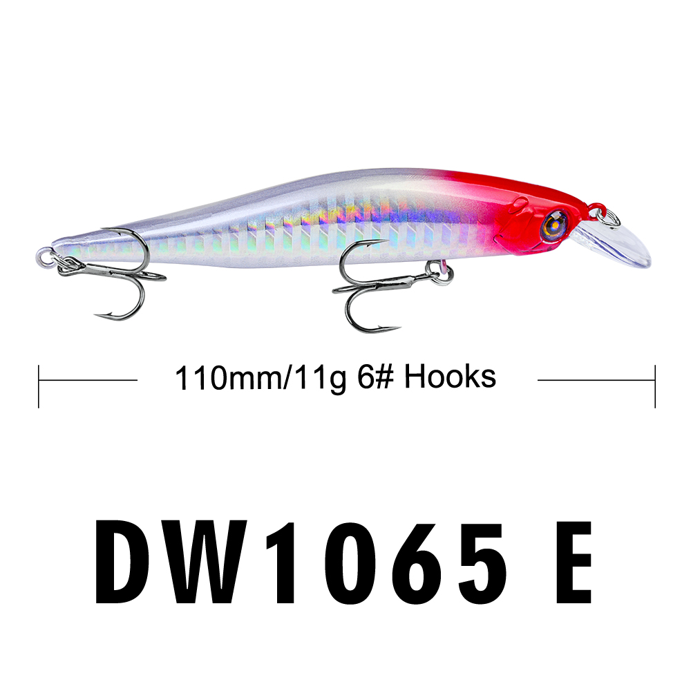 Image 5 - Proberos Fishing Lures 11cm Fishing Bait 11g Minnow Bait 6 Color Fishing Tackle 6# Hook Fishing Tackle Swimbait-in Fishing Lures from Sports & Entertainment