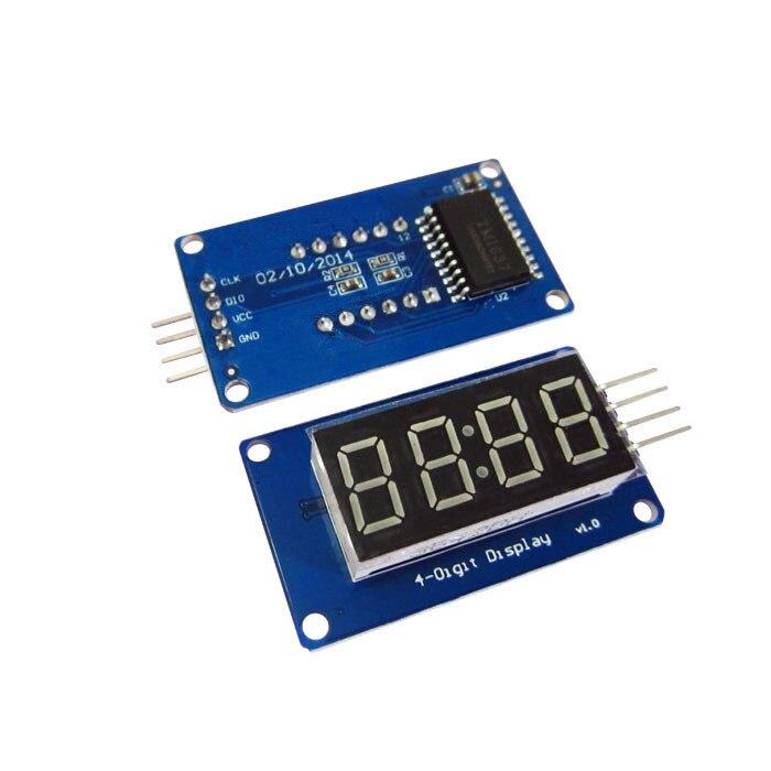 10 шт./лот 4 биты цифровой пробки светодиодный Дисплей модуль с часами Дисплей TM1637 для Raspberry Pi