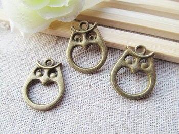 50pcs 18mmx22mm Antique Silver tone/Antique Bronze Hollow Night Owl Connector Pendant Charm/Finding,Bracelet Charm,DIY Jewelry фото