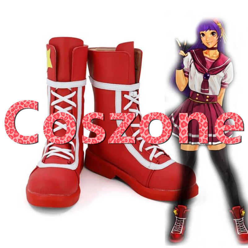 The King of Fighters XIV Athena Asamiya Cosplay Shoes Boots Halloween Carnival Cosplay Costume Accessories