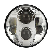 4x4 Car Accessories 80w 7 Harley Led Headlight High Low Beam For JEEP Wrangler JK Motorcycle