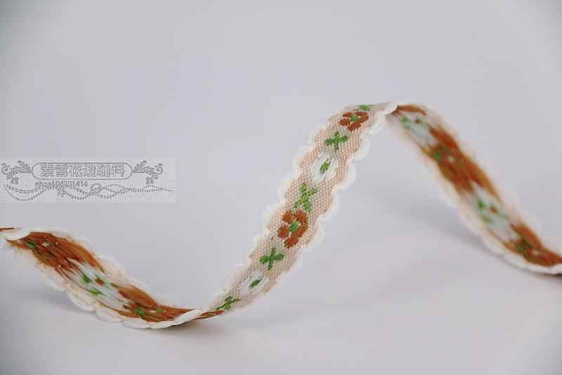 1,2 см 12 мм 1/2 ''качество белый ухо кружева бежевый коричневый цветок японский узкий постельные принадлежности отделкой шторы кружевные жаккардовые ленточки для волос