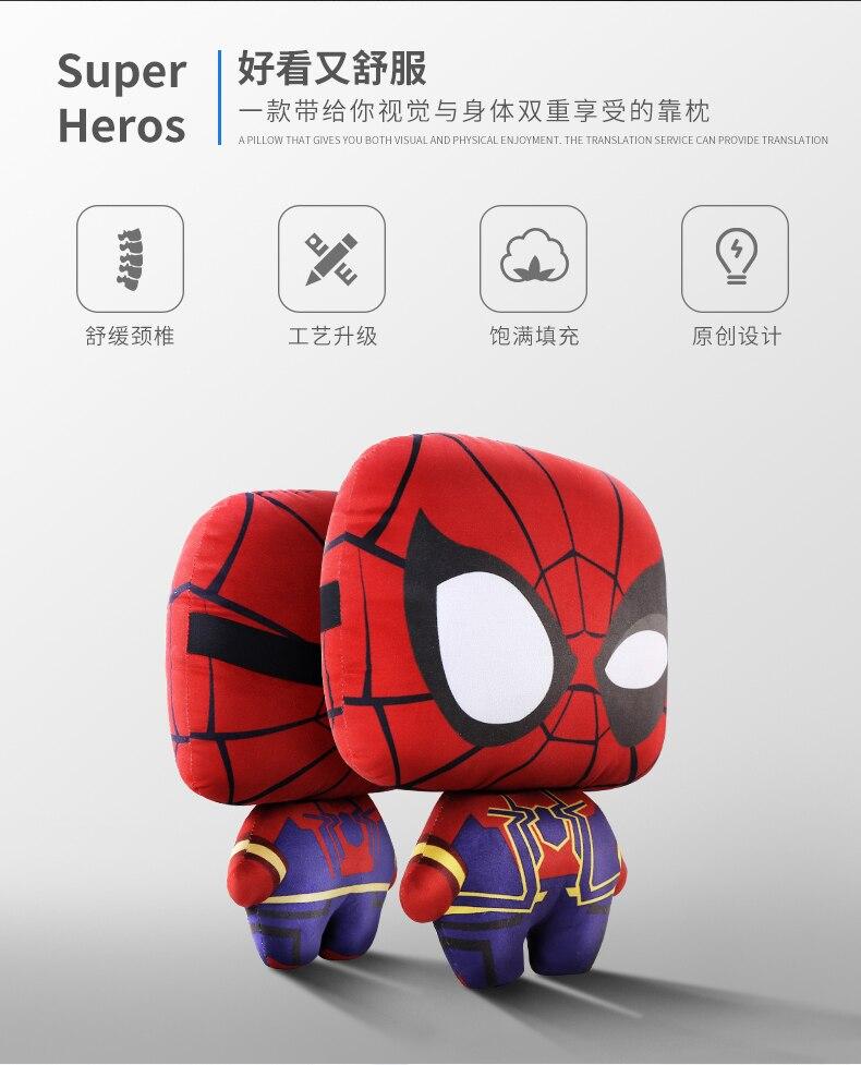 Assento de carro pescoço travesseiro super herói