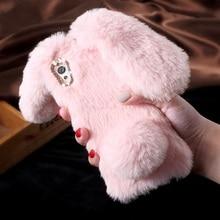 Кролик чехол для Sony Xperia XA1 XA1 ультра XA1ultra милый пушистый кролик Обувь на теплом меху ТПУ сотовый телефон случаях Прекрасный волосатая Mobile Принципиально