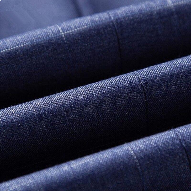 Повседневный костюм пиджак для мужчин Новое поступление модный приталенный пиджак мужские костюмы хлопок сплошной цвет мужской блейзер дл... - 6