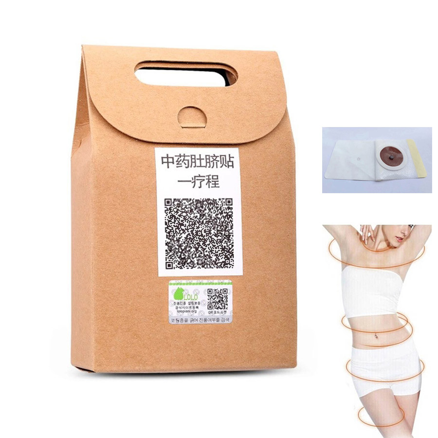 Chinese herbal products - 40pcs Slimming Patch Magnetic Weight Navel Stick Patch Chinese Herbal For Slimming Products To Weight Loss