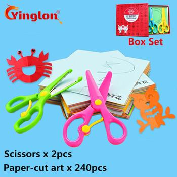 240 sztuk z 2 nożyczki dla dzieci origami cięcia papieru zestaw dla dzieci ręcznie robione zabawy stereo ręcznie robione dla dzieci 3D ręcznie cięcia papieru książki tanie i dobre opinie Papier do kopiowania S0043 1-500 arkuszy yinglon