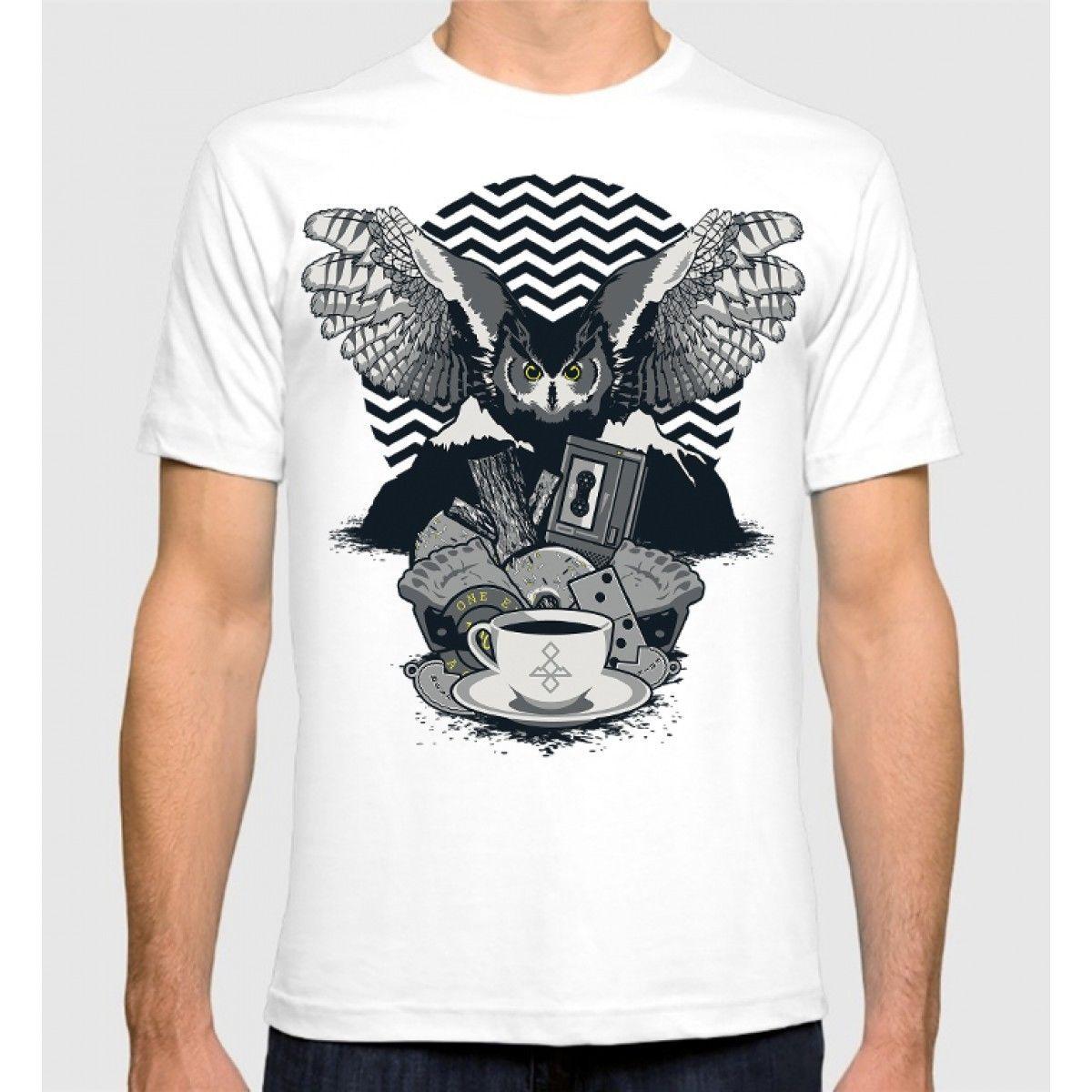 Twin Peaks Art T-Shirt David Lynch 100% Cotton Mens New Cotton Tee T Shirt Fashiont Shirt Free Shipping Top Tee Plus Size