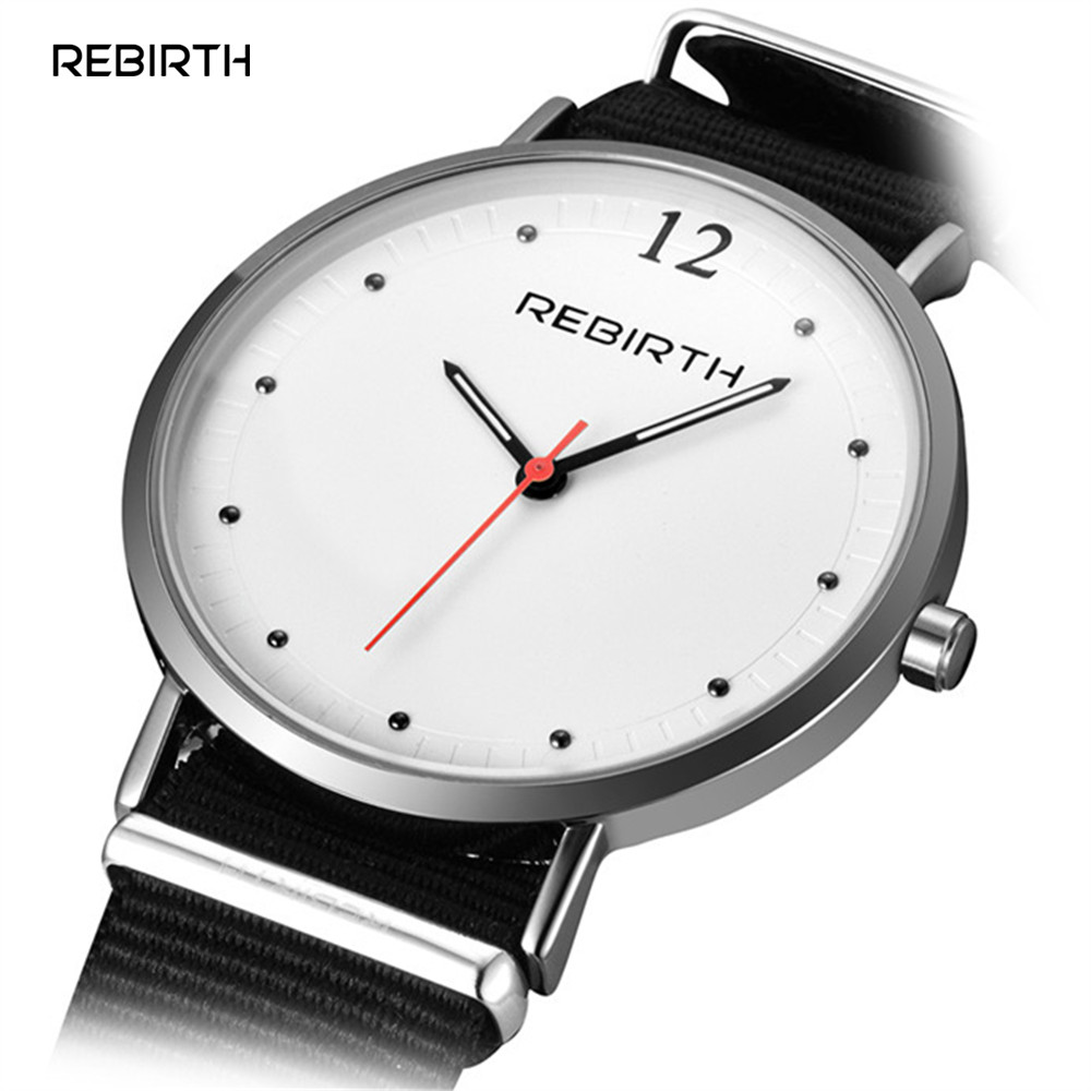 Brand REBIRTH Watches Men Women Fashion Casual Sport Clock Classical Nylon Male Quartz Wrist Watch Relogio Masculino Feminino  new top brand watches men women fashion casual sport clock classical nylon male quartz wrist watch relogio masculino feminino