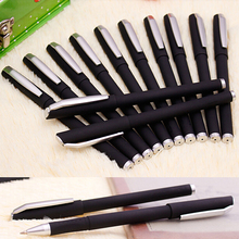 Free Shipping 12 pieces/Lot 0.5mm Sign Pen High quality black ink Scrub shell Gel Ink pens for school office home use