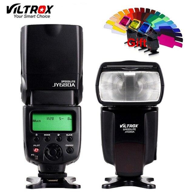 Viltrox JY-680A universel LCD Flash Speedlight rebond diffuseur couleur film lumière éclairage pour Canon Nikon Pentax Olympus appareils photo