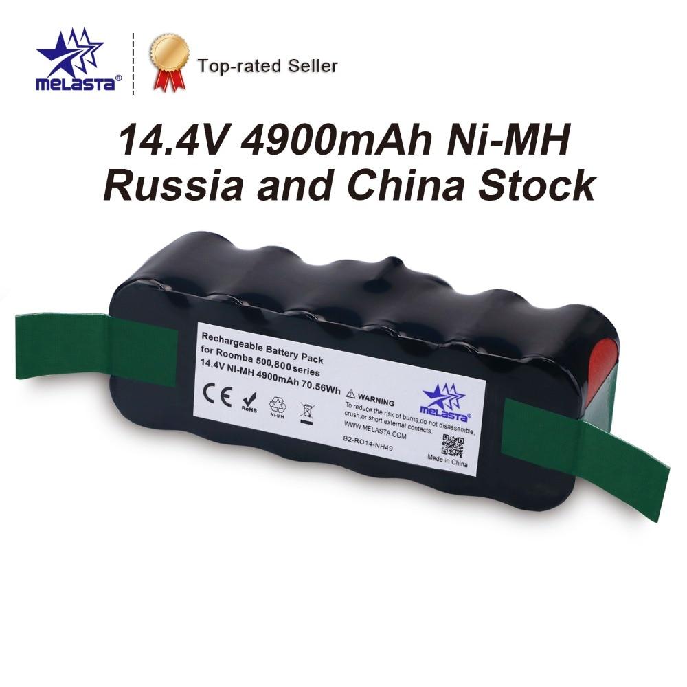 Extended 4.9Ah 14.4V NIMH Battery for iRobot Roomba 500 600 700 800 Series 510 530 531 550 620 630 650 760 770 780 870 880