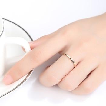 Yellow Gold Petite Black Cubic Zircon Ring 1