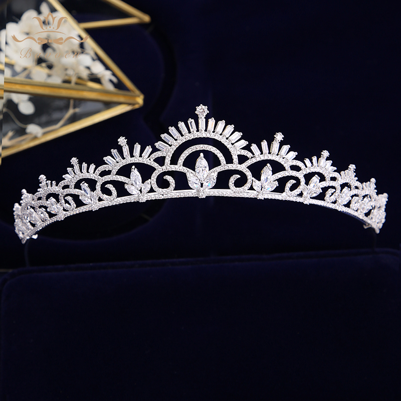 New Simple European Full Zircon Bridal Tiaras Crowns Plated Crystal Wedding Hairbands For Brides Women Hair JewelryNew Simple European Full Zircon Bridal Tiaras Crowns Plated Crystal Wedding Hairbands For Brides Women Hair Jewelry