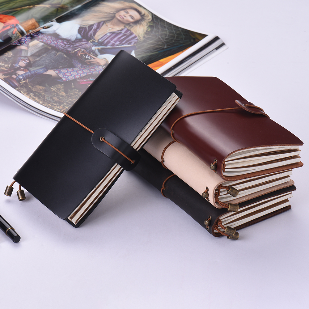 Aibecy Refillable Leather Journal Travel Notebook Diary ...