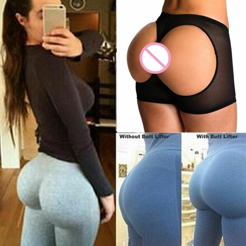 Women Butt Lifter Shaper Tummy Control Panties Buttock Open Instan Boyshort Underwear Briefs Plus Size Shaper