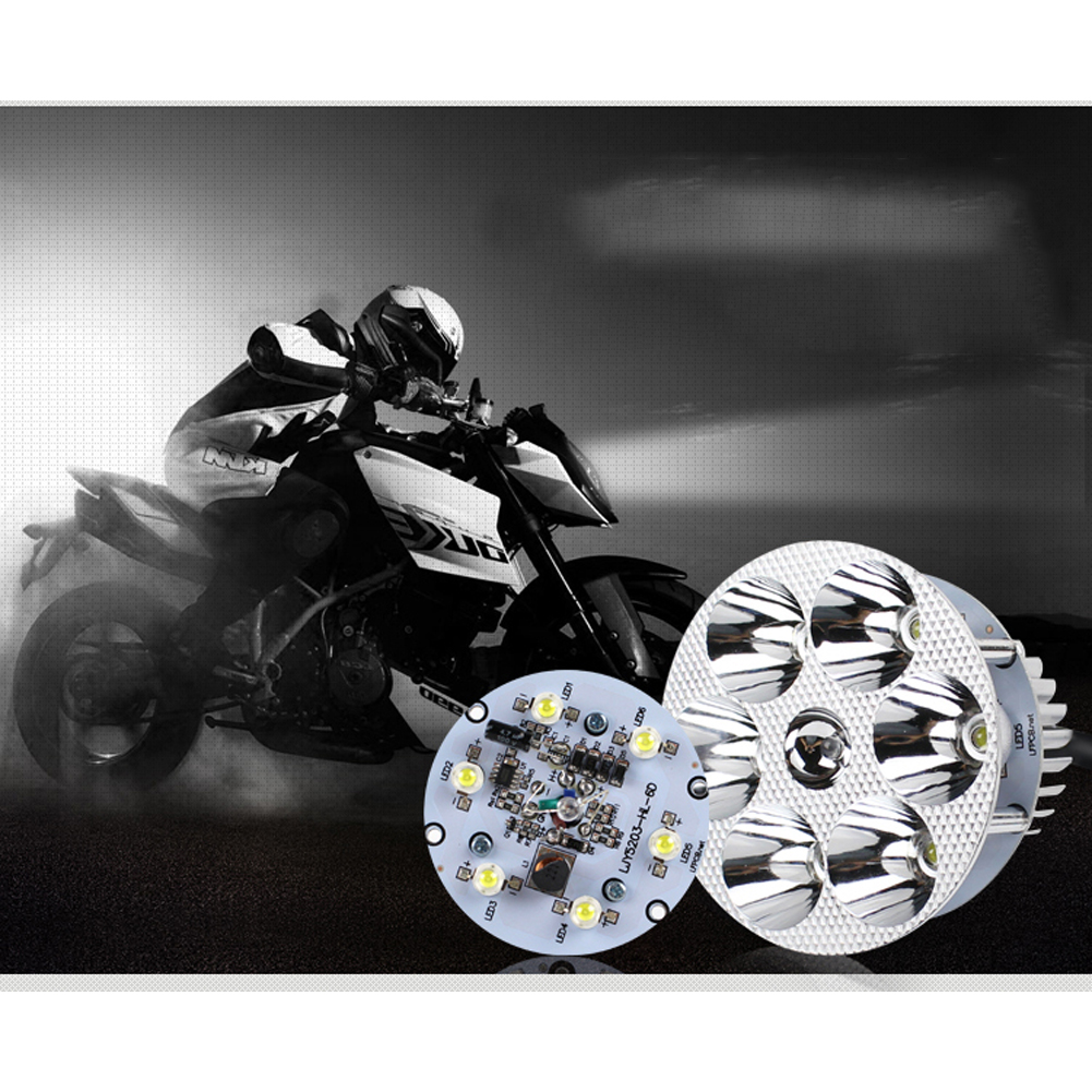 Encell 2016 New <font><b>12</b></font>-<font><b>80V</b></font> <font><b>Led</b></font> Motorcycle Headlight Bulbs Aluminum18W Lamp Scooter Moto Accessories Fog Lights For Motor image