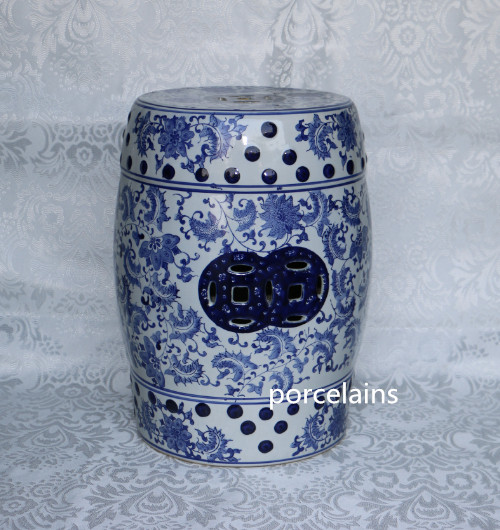 Online Buy Wholesale blue ceramic garden stool from China blue