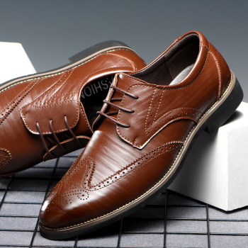 Luxury Brand Men Oxfords Shoes Wedding Party Brogue Shoes Men Dress Shoes Genuine Leather Formal Business shoes Big size sipriks luxury patina leather dress shoes for men vintage business offfice shoes boss work shoes male brogue oxfords shoes new