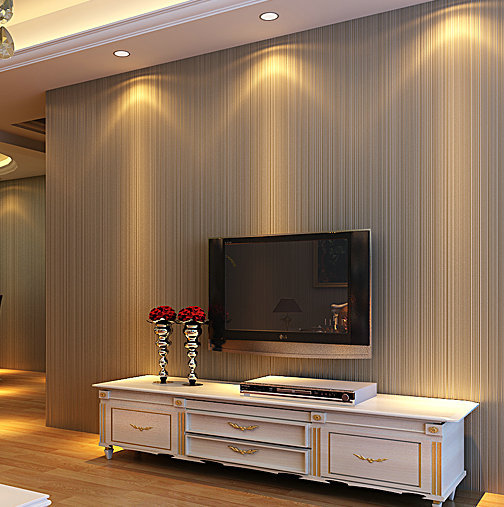 Top Quality Fabric Mural Wallpaper Modern Stripe Flock Wall Paper Papel De Parede Tapete Living Room Bedroom White,Beige,Coffee white mural wallpaper modern stripe flock embossed non woven wall paper papel de parede tapete bedroom decoration 53x1000cm