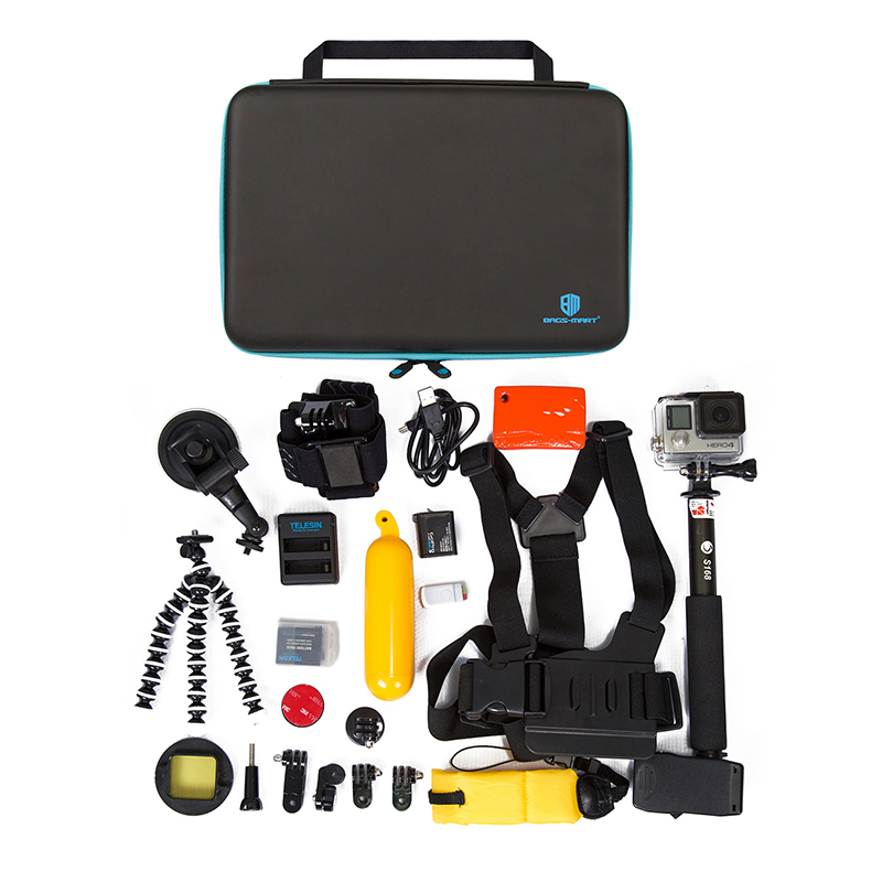 BAGSMART Camera Accessory Case Kit for GoPro Shakeproof Camera Bags Waterproof Box for Camera Accessories Camera Collection Box