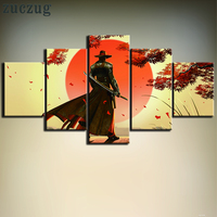 5 Pieces Red Steel 2 Game Poster Modern Canvas Print For Home Decoration Red Steel 2