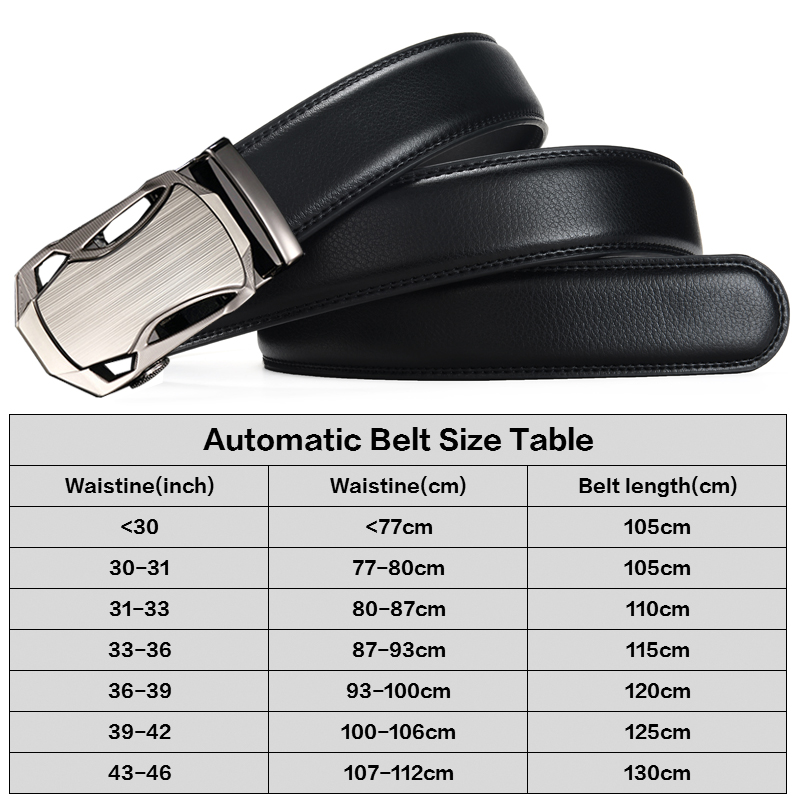 DINISITON Lelaki Belt automatik strap Belt cowhide Kulit Designer - Aksesori pakaian - Foto 6